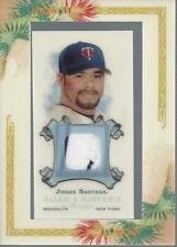 2006 Topps Allen & Ginter's Relics #JS Johan Santana Black/White Jersey