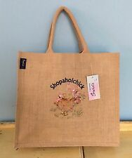 Large Shopping Bag Funny Quirky embroidery Designer By Artist Sophie Appleton