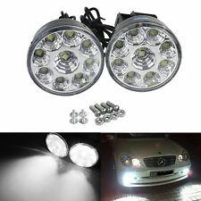 9 LED DRL Feu de Jour Blanc Xenon 7000K Eclairage Feux  Diurnes 70mm Rond 12V