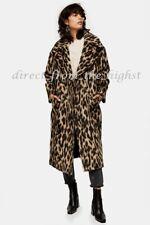 Topshop Leopard Print Maxi Coat Size XS_S_M_L