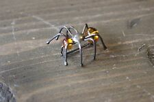 Vintage Sterling Silver Amber Spider Brooch