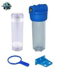 """Filtergehäuse 10 Zoll 3/4"""" SET + Leerfilter Patrone Osmoseanlage Wasserfilter"""