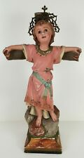 JESUS CRUCIFIED ENFANT. STUCCO POLYCHROMÉ. OLOT STYLE. XXE SIÈCLE.