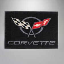 "Door Welcome Mat w/ Logo (Black) GM Floor Rug 36"" x 24"" (1997-2004 C5 Corvette)"
