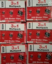 Acco Binder Clips 3 in 1 Multi-pack Medium, Small & Mini - 1386 Clips Total