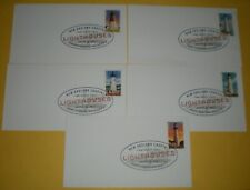 5 Us Fdc 4791/95, New England Coastal Lighthouses, Uncdacheted