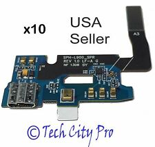 Lot of 10 Samsung Galaxy Note 2 USB Charging Port AT&T I317 Mic Flex Cable