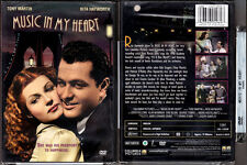 DVD Rita Hayworth MUSIC IN MY HEART 1940 Tony Martin classic FS B&W R1 OOP NEW