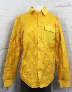 Burton Dorset Insulated Down Snap-up Shirt Men's Large Blazed Yellow Gold New