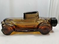 Vintage Avon Car Cologne Bottle - Sterling Six (Brown Glass) 1/2 Full Spare Tire