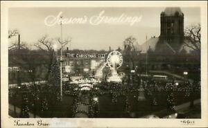 Taunton Green at Christmas Time 1948 Real Photo Postcard