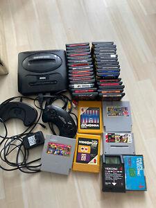 Sega Genesis System Konsole + Spiele KonvolutSammlerpaket Vintage MK16-31