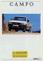 Opel Campo Prospekt 1991 9/91 Autoprospekt brochure prospectus prospecto Auto
