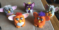 Lot of 5 1998 McDONALDS Happy Meal Toys FURBY Tiger Electronics - Asst. Colors