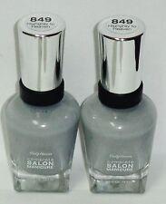 2 Sally Hansen Complete Salon Manicure Nail Polish HIGHGRAY TO HEAVEN #849