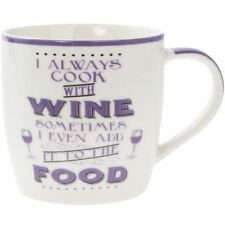 Lesser & Pavey Word Play Porcelain Mug - Cook with Wine