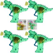 """4x Seifenblasenpistole """"Dino-Gun"""" mit Lichteffekt inkl. Seifenblasenflüssigkeit!"""