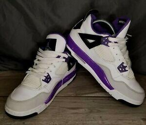 Jordan 4 Retro Violet GS Youth Size 6Y WhiteUltraviolet Grey 2012