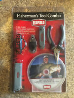 NEW Rapala Fisherman Tool Combo Pro Catch Bigger Fish DVD Pliers Hk Shpnr Cliprs