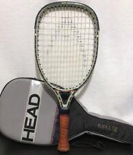 Head Impulse Racquetball 18-3/4 Racquet Boron Graphite 3-3/4 Leather Grip + Case