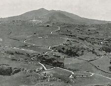 D1600 Trapani - Calatafimi Segesta - Veduta - Stampa antica - 1926 old print