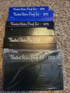 1970, 72, 73, 74 & 75 U.S. Proof Sets