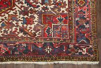 Antique Geometric Tribal Red Handmade Oriental Heriz Area Rug Wool Carpet 7x10
