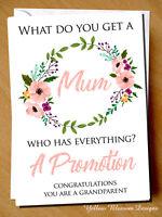 Pregnancy Announcement Card Mum Grandparent Congratulations Baby Surprise Cute