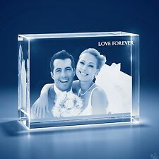 Laser Engraved 3D Crystal Personalized  Gift 3X-Large Brick Shape