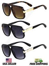 Classic Retro Men's Fashion Aviator's Vintage Designer Sunglasses Black NEW