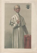VANITY FAIR CARTOONS  - POPE LEO XIII - THE OLDEST POPE - TISSOT (May 1878)