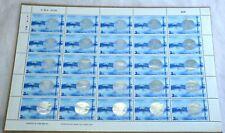 25 Thailand 3 baht Stamps Postage Sheet Golden Jubilee 1996 Hologram