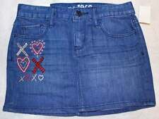NWT Gap Kids Valentine's Day XOXO Sequin Sparkle Heart Denim Mini Skirt M 8 Yrs