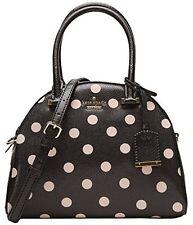 Kate Spade Small Pearl Cedar Street Deco Dot Handbag Crossbody Black Beige