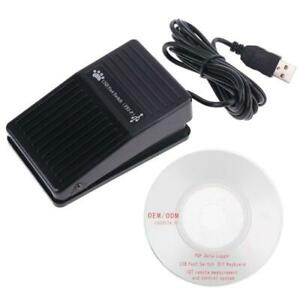 USB Single Foot Switch Pedal Control Keyboard Mouse PC Game for Dos Win 7 MAC