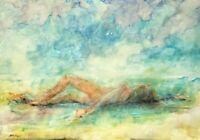 "Impressionism Oil Painting Reclining Nude Female on Canvas 36x25"" unknown artist"