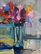 """JOSE TRUJILLO - Original OIL PAINTING MODERN Collectible 9X12"""" Expressionism NEW"""