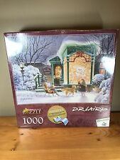 Bear's Den 1000 Piece Perfalock Puzzle Wrebbit D. R. Laird Winter Teddy Snow