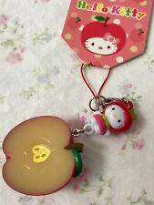 Sanrio Hello Kitty Fruit Apple Phone Charm Keychain 2010