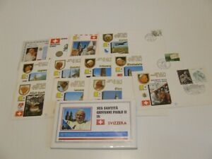 VATICAN CITY 1984 POPE JOHN PAUL VISIT TO SWITZERLAND COMMEM COVERS IN PACK