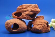 3Pcs Aquarium Ornament Fish Tank Cichlid Stone Shrimp Breeding Cave AK601