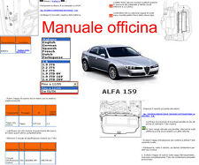 MANUALE OFFICINA Alfa Romeo 159 WORKSHOP MANUAL SERVICE SOFTWARE ELEARN