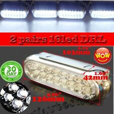 Universal 16 LED Car DRL Day Driving Daytime Running Fog White Light Lamp US 4X