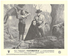 Vendetta Howard Hughes original lobby card Faith Domergue in forest