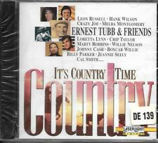 CD 18T COUNTRY TIME ERNEST TUBB & FRIENDS LORETTA LYNN/JOHNNY CASH...NEUF 1993