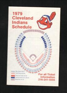 Cleveland Indians--1979 Pocket  Schedule--Carpenter Reserve Printing