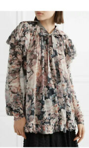 zimmermann Tampest Frolic Ruffle Floral Silk Top