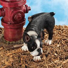 All American Puppy Dog Statue Hiking Leg Funny Sculpture Garden Yard Decor New