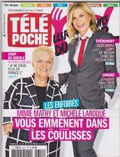 Télé poche mars 2016 - Mimie Mathy - Michele laroque - Les Enfoirés -