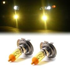 YELLOW XENON H7 HEADLIGHT HIGH BEAM BULBS TO FIT VW Golf MODELS
